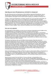 Ausführlicher Bericht zum Pferdefestival - Kreisreiterbund Werra ...