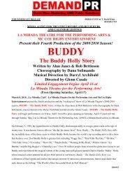 press release - La Mirada Theatre for the Performing Arts