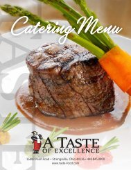 Download and Print Our Menu Brochure - A Taste of Excellence