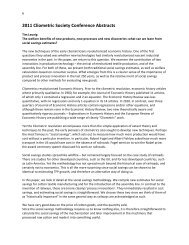 2011 Clio Conference Abstracts - Cliometric Society