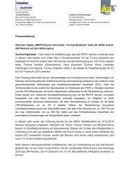 RWTH Aachen University / Tuning Akademie - ika - RWTH Aachen ...