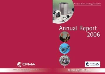 Annual Report 2006 - European Powder Metallurgy Association