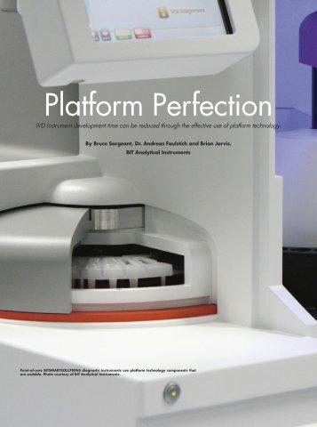Platform Perfection - IVD instrument development time ... - BIT Group