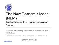 The New Economic Model - Malaysian Accountancy Research and ...