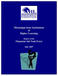 July 2007 - Mississippi Board of Trustees of State Institutions of ...