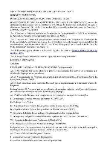 MINISTÉRIO DA AGRICULTURA, PECUÁRIA E ... - Adagri
