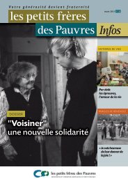Les petits frères des Pauvres infos N°20 : 1er trimestre 2011