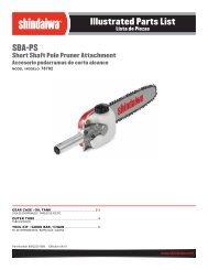 Illustrated Parts List - Shindaiwa USA
