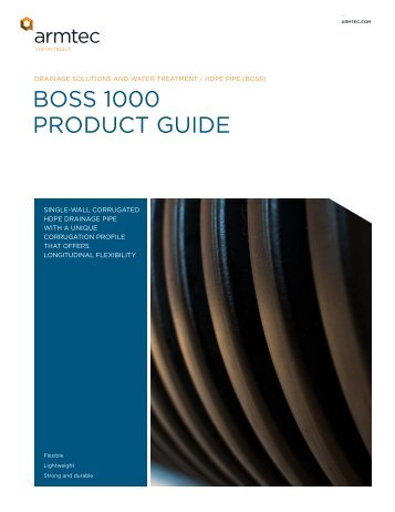 BoSS 1000 ProDuCt guiDe - Armtec