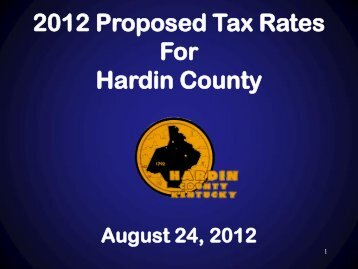 Rate - Hardin County Government