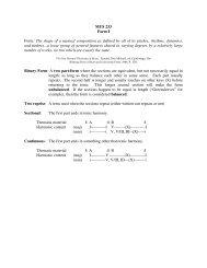 MUS 233 Form I Form: The shape of a musical ... - Jkornfeld.net