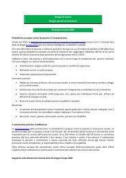 Gruppo di Lavoro Bisogni speciali ed inclusione Strategia Europea ...