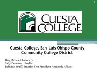 Cuesta College, San Luis Obispo County Community College District