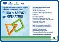GUIDA ai SERVIZI per OPERATORI - Lombardia Mobile - Regione ...