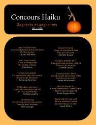 Concours Haiku