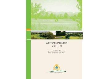 WETTSPIELKALENDER - Golfclub Clostermanns Hof