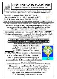 COMUNITA' IN CAMMINO - Parrocchia di Santena