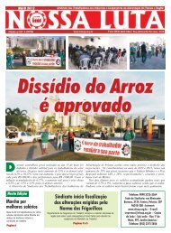 nossa luta maio_web.p65 - Sindicato dos Trabalhadores nas ...