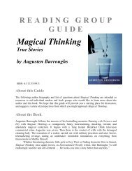 READING GROUP GUIDE Magical Thinking True Stories by ...