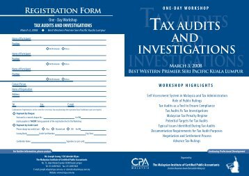 TAX Audits and investigations - The Malaysian Institute Of Certified ...