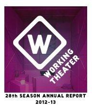 28th SEASON ANNUAL REPORT - Working Theater
