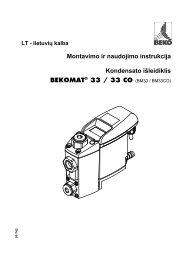 Montavimo ir naudojimo instrukcija Kondensato išleidiklis - BEKO ...