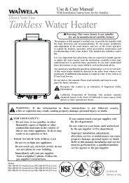 PH2-DV Manual - Paloma Water Heaters