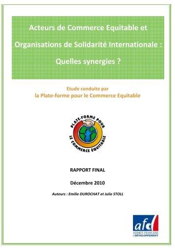 Etude - la Plate-Forme pour le Commerce Équitable