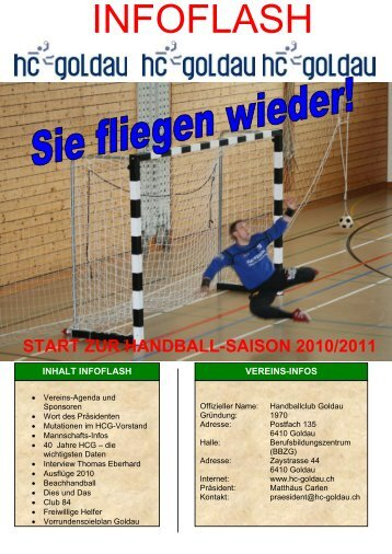 Infoflash August 2010 - Handballclub Goldau