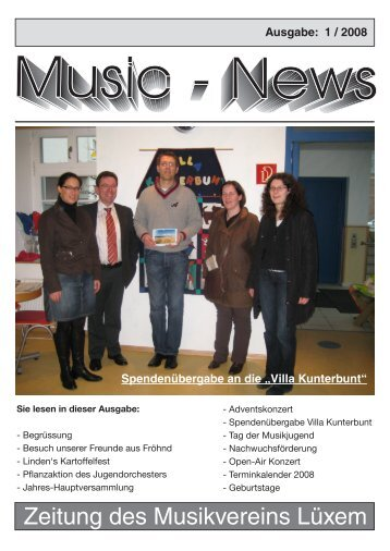 Zeitung des Musikvereins Lüxem - auf Lüxem