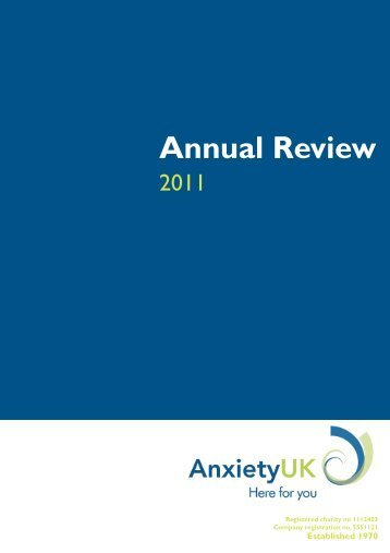 2011 Anxiety UK Annual Report