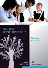 Téléchargez la notice d'information des salariés - Ag2r