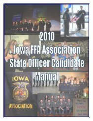 2010-2011 State Officer Candidate Manual - Iowa Ag Ed Update