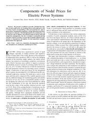 Components of nodal prices for electric power systems - Power ...
