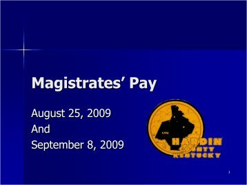Magistrates' Pay - Hardin County Government