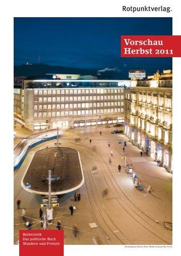 Vorschau Herbst 2011 - Rotpunktverlag