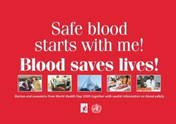 Safe Blood Starts with Me - libdoc.who.int - World Health Organization
