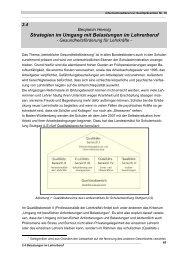 Strategien im Umgang mit Belastungen im Lehrerberuf