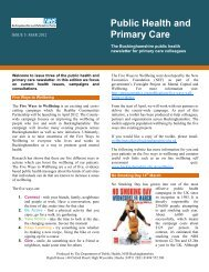 Public Health and Primary Care - My Surgery Website