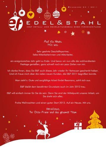 Edel&Stahl 04/2011 - E und F Metall und Rohrleitungsbau GmbH