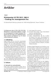 Fradrag for management fee - DVCA