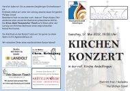 Samstag, 12. Mai 2012, 19.00 Uhr in der ref. Kirche Andelfingen