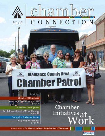 C O N N E C T I O N Chamber Initiatives - Alamance County ...