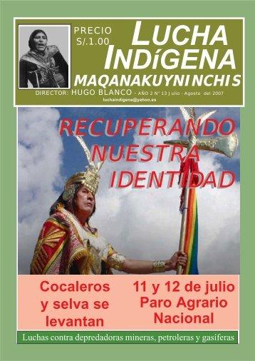Lucha Indígena 13 - Centro de Documentación Ñuke Mapu