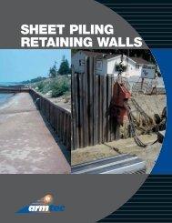 SHEET PILING RETAINING WALLS - Armtec