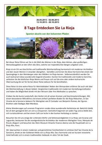 8 Tage Entdecken Sie La Rioja - VinoVia