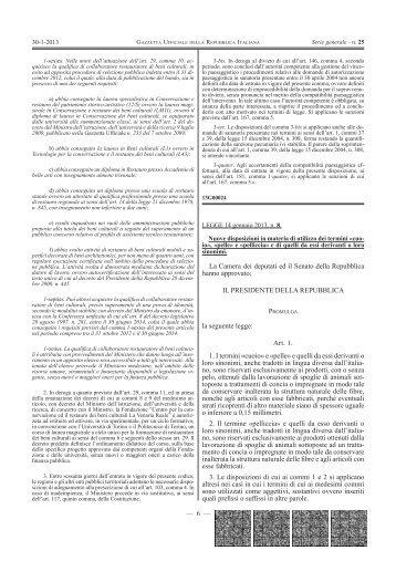 LEGGE 14 gennaio 2013 , n. 8 - Camera di Commercio di Bologna
