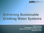 Achieving Sustainable Drinking Water Systems