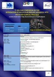 Program : click here - Institut Jules Bordet Instituut