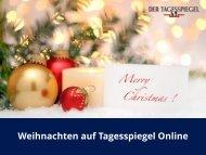 Weihnachten auf Tagesspiegel Online - Urban Media GmbH